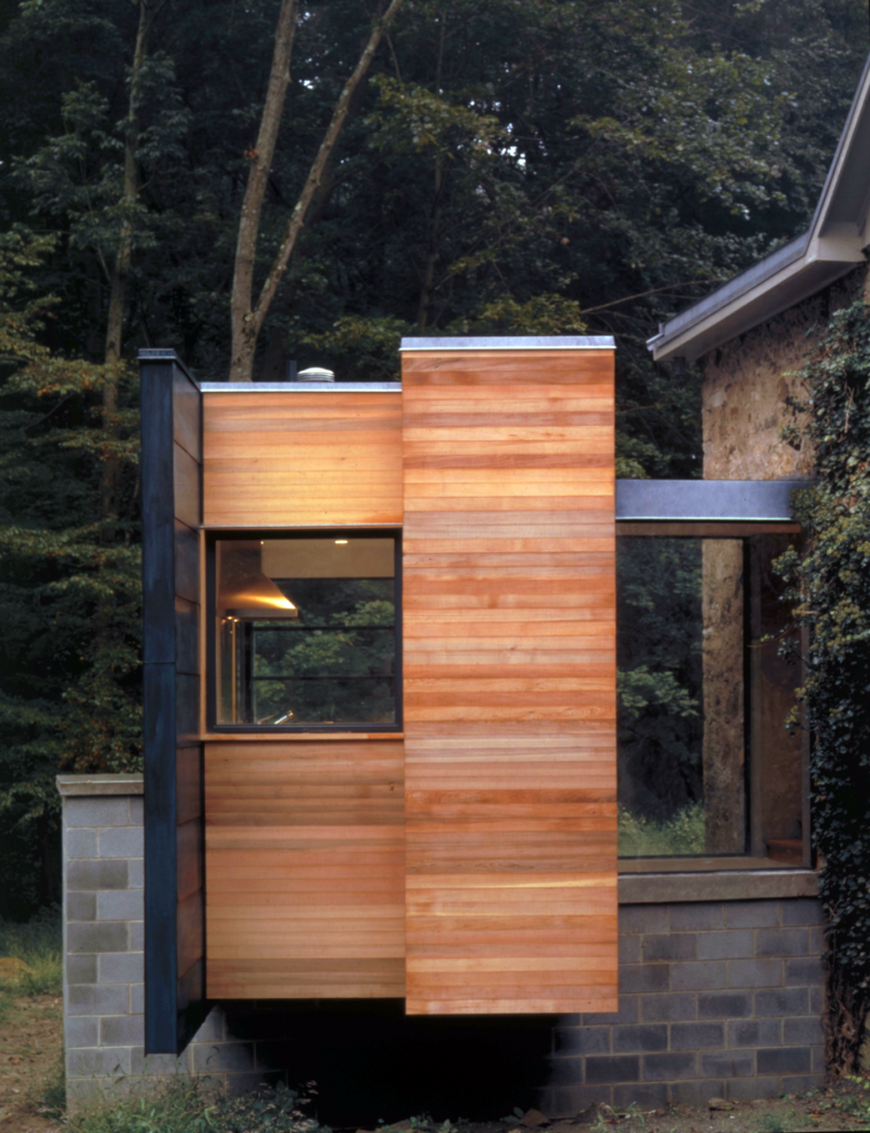 media house wood siding